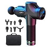 ABOX Massagepistole für Nacken Schulter Rücken, elektrisches Massage Gun mit 8 Massageköpfen und 30 Geschwindigkeiten Muskelvibrationsgerät zu entspannen Upgrade-Version