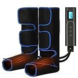 Beine Massagegerät Elektrisches Fußmassagegerät mit 6 Modi 3 Intensität Kompressionsmassage,USB-Aufladung Kabellos Bein-Massage-Gerät mit Heizfunktion für Füße, Waden