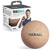 TRUEBALL by TRUETAPE® Faszien-Ball - nachhaltiger Massageball aus 100% Kork zur gezielten Selbst-Massage   Mit Anleitungen für dein Faszien-Training   8 cm Triggerball