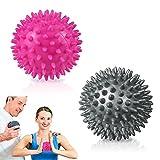 2er Set Ealicere Igelball Set mit Noppen, Igel Ball Massageball, Massage Massagebälle für Rücken, Beine, Füße & Hände Muskelmassage