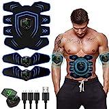 EMS Trainingsgerät,EMS Muskelstimulator,Professional Bauch Muskel Trainer Elektrisch für Herren Damen,Abnehmen und Muskeln aufbauen,Tragbarer Muskel Trainer