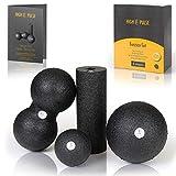 High Pulse® Faszien Set inkl. 2X Faszienball, 1x Mini Faszienrolle, 1x Duoball und Übungsposter – Kombi-Set für eine gezielte, tiefenwirksame Massage von Faszien und die Regeneration der Muskeln | S