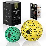 M.S.Lemberg® Faszienball klein Set - Massageball zur gezielten Selbst- Massage von Faszien, Muskeln, Verspannungen, Triggerpunkt u.v.m. - Mini Faszienkugel - Ball Ø 8cm & 6cm