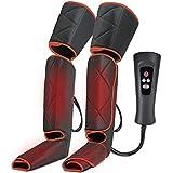 CLORIS Beine Massagegerät mit Hitze, Elektrisches Fußmassagegerät mit Luftdruckintensitäten,6 Massagemodi 4 Luftdruckintensitäten für müde Füße, Beine Gegen Schwellungen und müde